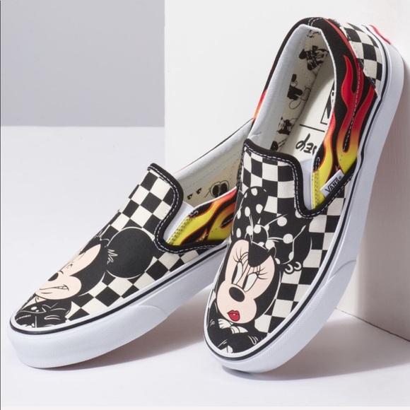 a9629edfd8 NIB Vans Disney MINNIE AND MICKEY checker sneakers